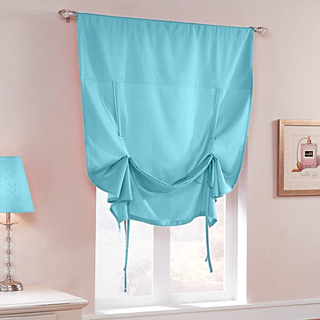 Candy Tie-Up Shade with Grommets in Turquoise