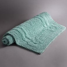 Simply Vera Vera Wang Reversible Signature Key Bath Rug in Turquoise