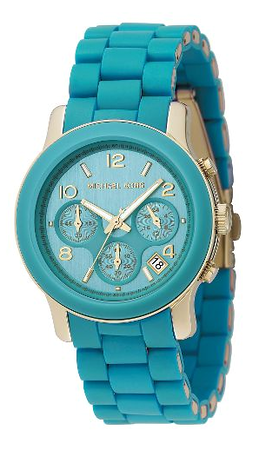 Michael Kors Turquoise-Dial Chronograph Watch