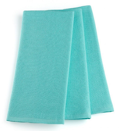 Martha Stewart Collection 3-Piece Blue Kitchen Towels Set