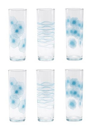 SNÄLL Turquoise Patterned Glasses