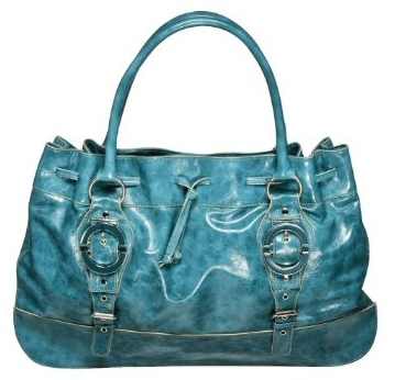 Angie & Lola Satchel with Buckles in Turquoise