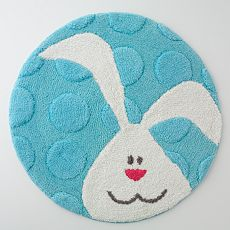 Blossoms & Blooms Bunny Head Bath Rug