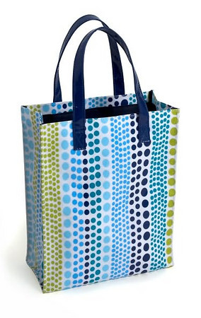 Jonathan Adler Weight Teal & Green PVC Fabric Mini Tote