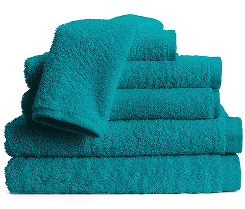 True Colors Bright Towel Set - 6-Piece - Deep Sea Turquoise