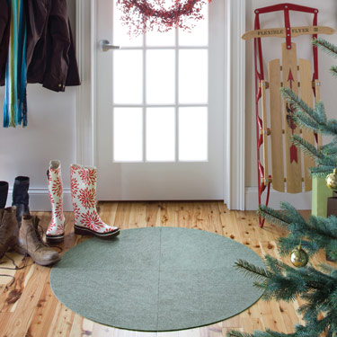 Dusty Turquoise Spiral Out Rug Kit by FLOR