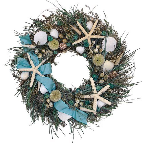 Caribbean Blue Wreath - 16""