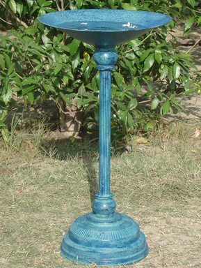 Aqua Powdercoated Bird Bath