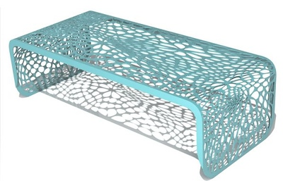 Coral Coffee Table in Sea Green
