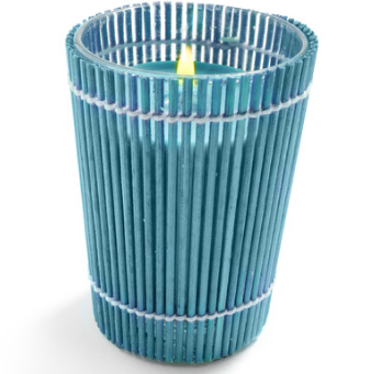 Bamboo-Wrapped Citronella Candles