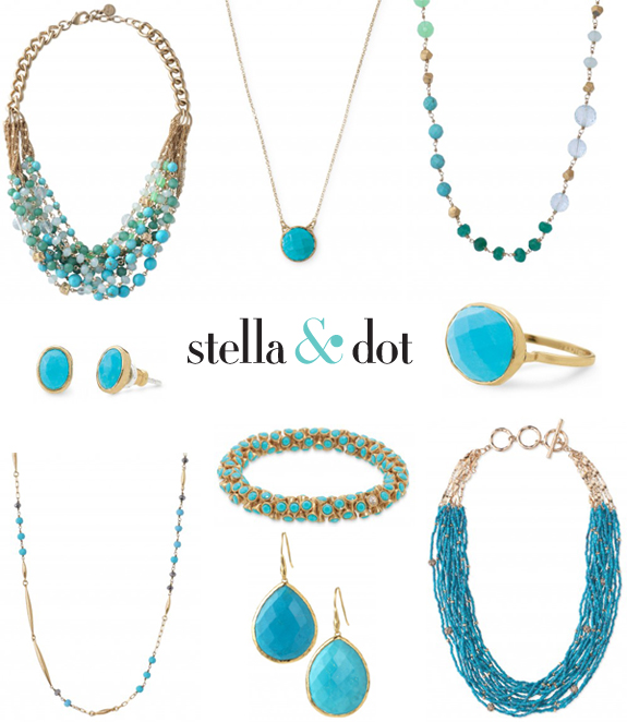 Turquoise jewelry from Stella & Dot